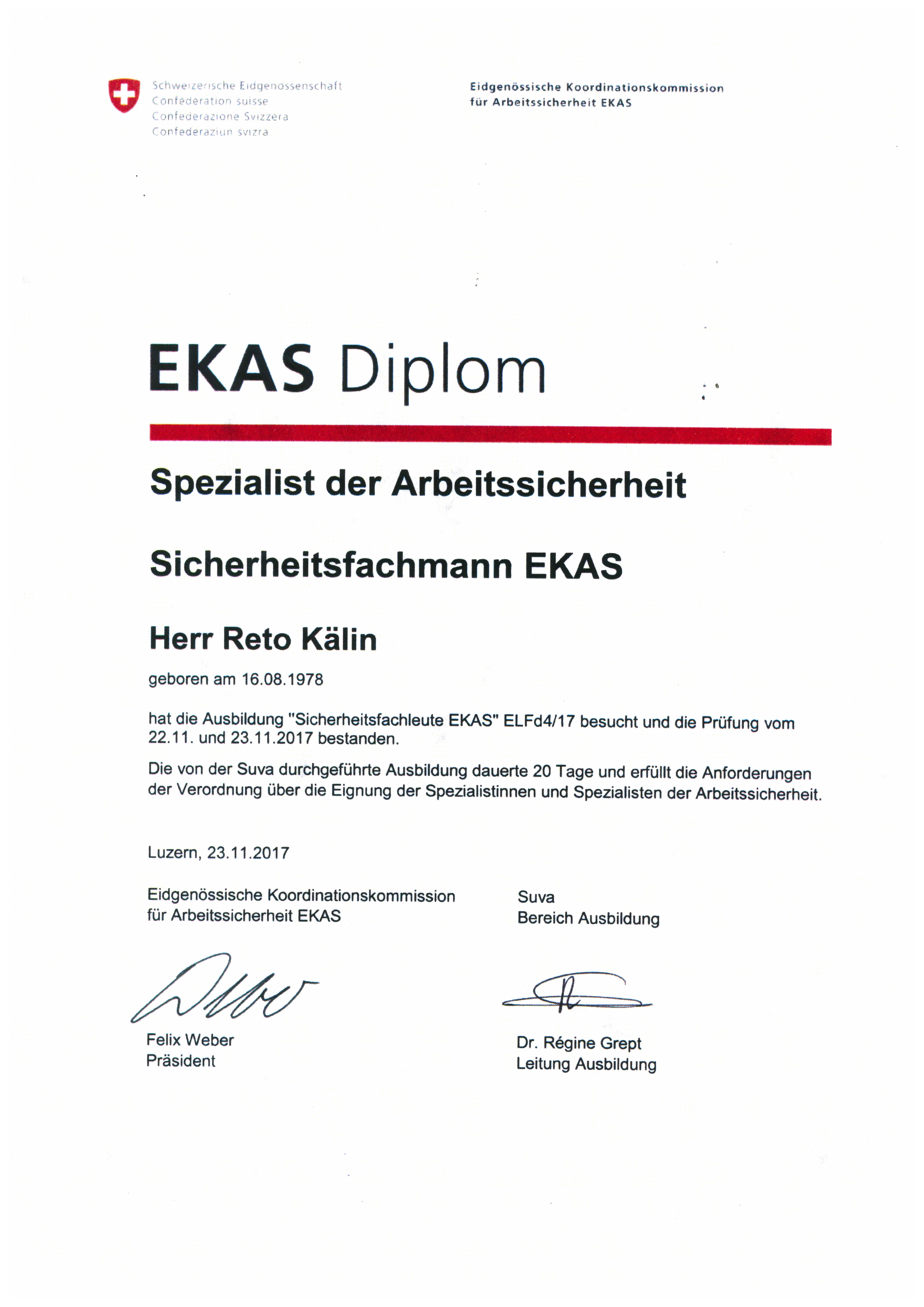Sandstrahlwerk First, 8835 Feusisberg - Zertifikat Reto Kälin ...